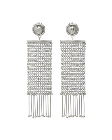 Constantine Chainmaille Earrings- Silver