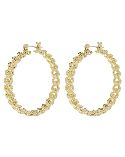 Cuban Link Hoops- Gold