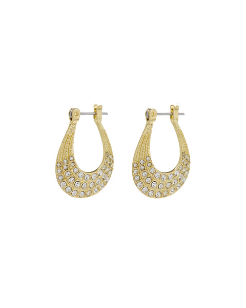 Diana Pave Hoops- Gold