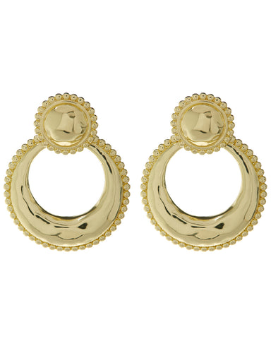 Dree Studded Statement Hoops- Gold
