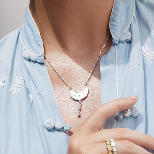 Celestial Charm Necklace- Silver