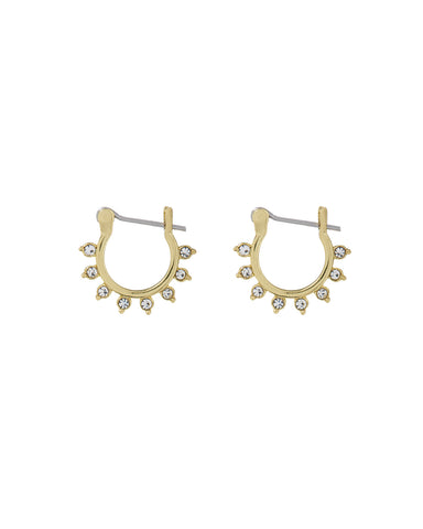Gloria Diamonte Hoops- Gold (Ships Late July)