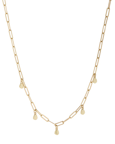 Golden Nugget Shaker Necklace- Gold