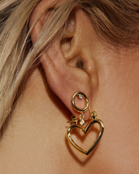 Mini Heartbreaker Hoops- Gold (Ships Late July)