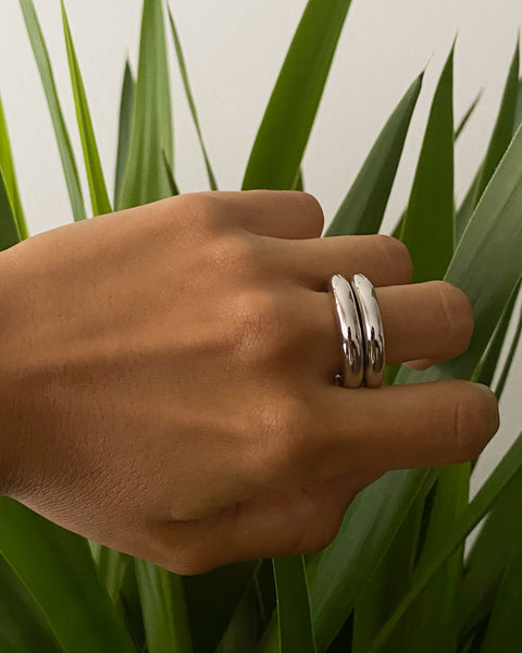 Amalfi Tube Ring- Silver