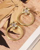Flora Statement Hoops- Gold