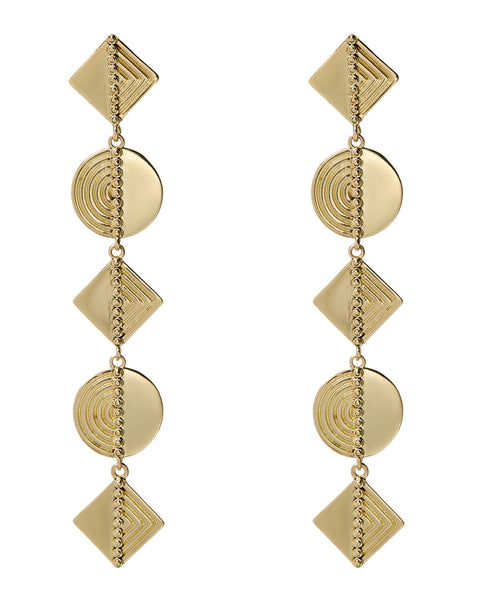 Ines Drop Earrings- Gold