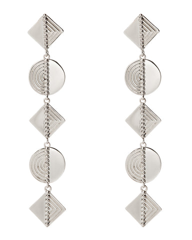 Ines Drop Earrings- Silver