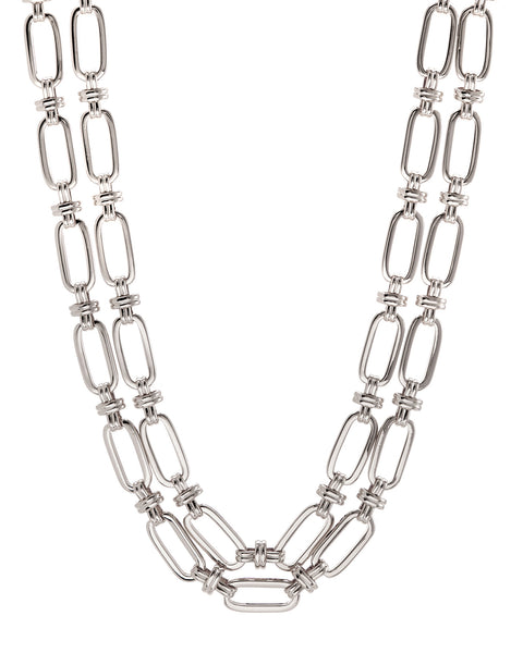 Isabella Statement Necklace- Silver
