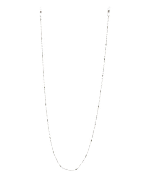 Joplin Beaded Sunglass Chain- Silver