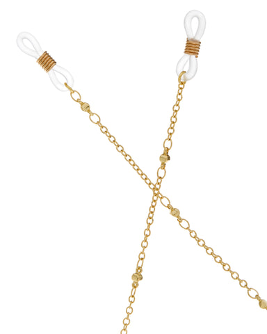 Joplin Beaded Sunglass Chain- Gold