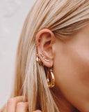 Marquise Dangle Studs- Gold