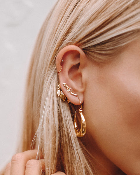 Marquise Dangle Studs- Gold (Ships Mid August)