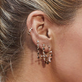 Whimsy Flare Mini Hoops- Rose Gold