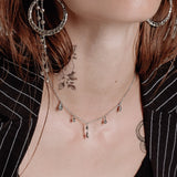 The Moroccan Dangle Charm Necklace- Silver