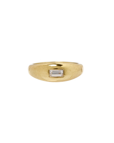 Baguette Dome Ring- Gold