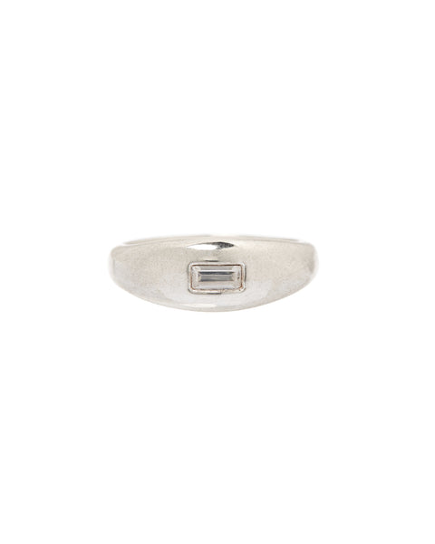 Baguette Dome Ring- Silver