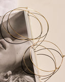 Capri Wire Hoops - Gold