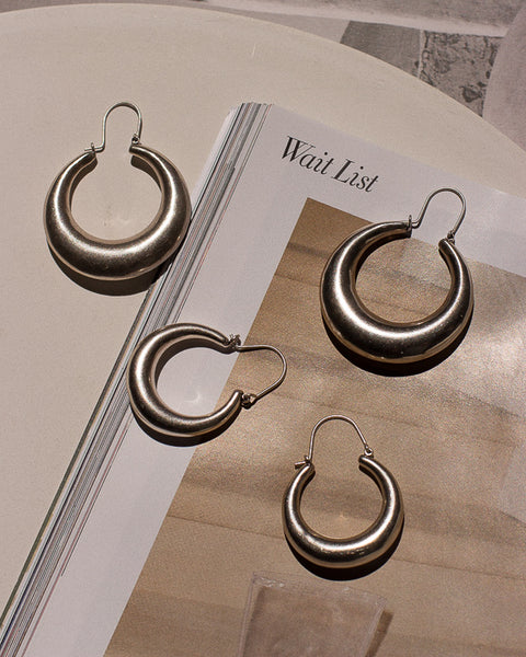 Martina Tube Hoops- Silver (Ships Late August)