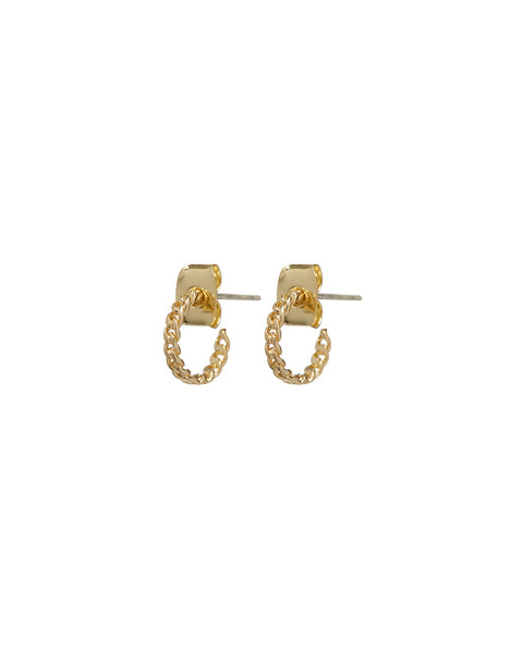 Baby Chain Hoops- Gold
