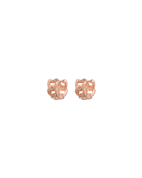 Baby Curb Link Huggies- Rose Gold
