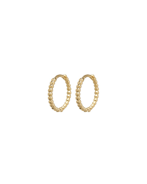 Continuous Beaded Huggies- Gold