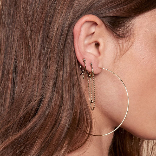 Capri Wire Hoops - Rose Gold