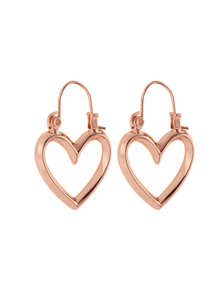 Mini Heartbreaker Hoops- Rose Gold (Ships Mid November)