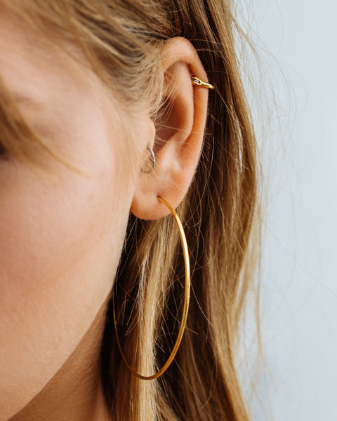 Capri Wire Hoops - Gold (Ships Mid May)