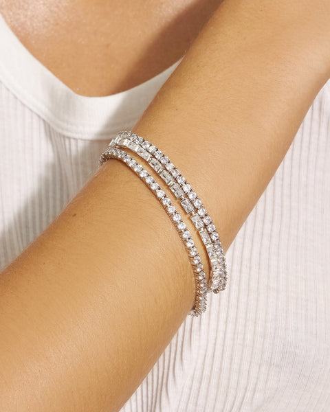 Ballier Bracelet- 3MM Round- Silver (Ships Mid May)
