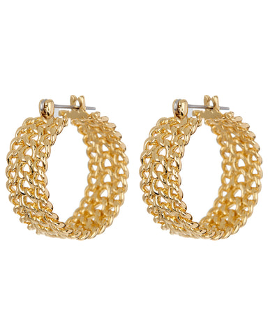 Margherita Chain Hoops- Gold (Ships Late April)