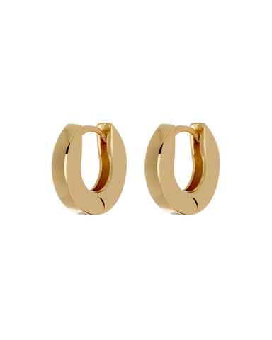 Mini Coco Hinge Hoops- Gold (Ships Early May)