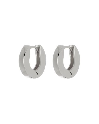 Mini Coco Hinge Hoops- Silver (Ships Late April)