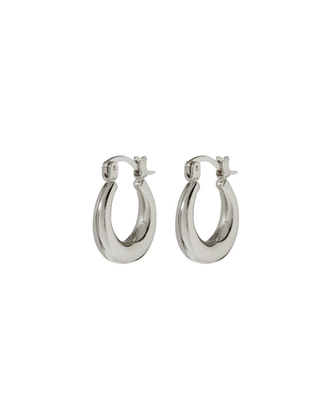 Mini Martina Hoops- Silver