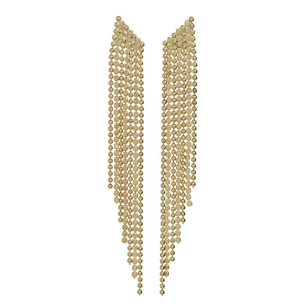 Cascading Chain Earrings- Gold
