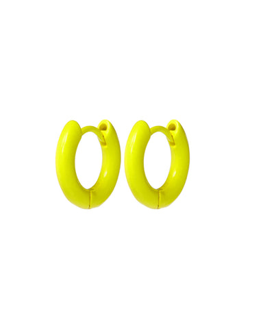 Rainbow Amalfi Huggies- Neon Yellow
