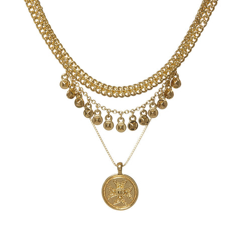 Noa Coin Charm Necklace - Gold (Ships Late May)
