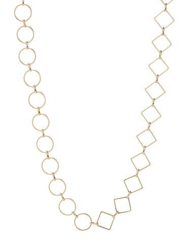 Nour Mixed Chain Necklace- Gold