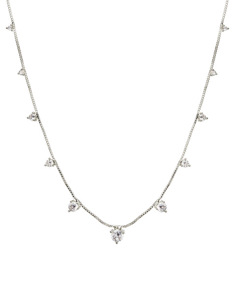 Orien Charm Necklace- Silver (Ships Late March)