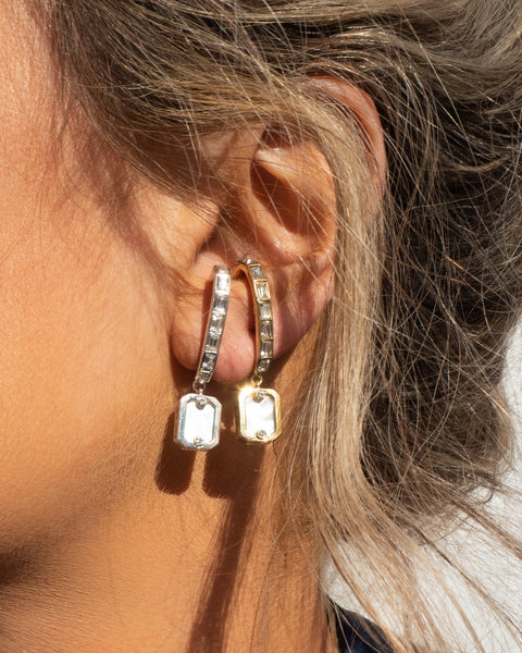 Over-the-Lobe Pearl Earrings- Gold