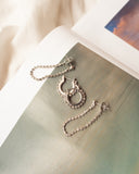 Diamonte Hoops + Chain Stud Set- Silver