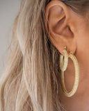 Pearl Pave Amalfi Hoops- Gold