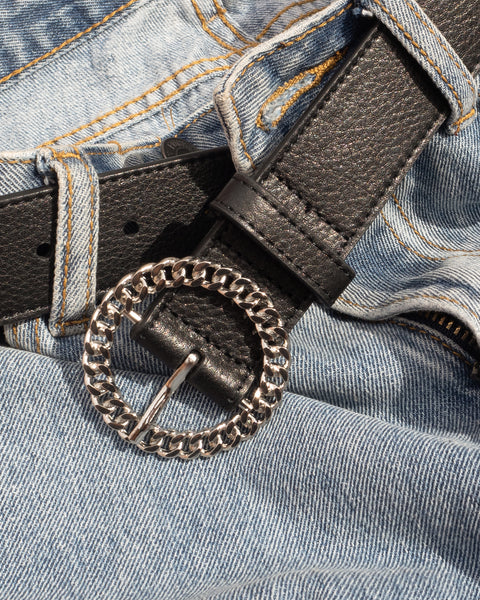 Blair Chain Link Belt- Silver