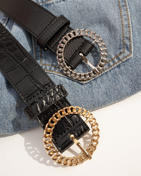 Blair Chain Link Belt- Gold