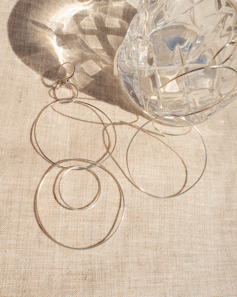 Whisper Wire Hoops- Silver