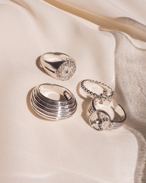 Wave Dome Ring- Silver