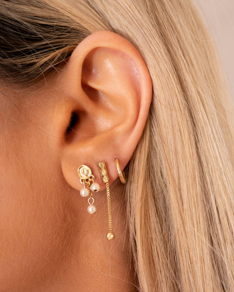 Pave Punk Studs Set- Gold