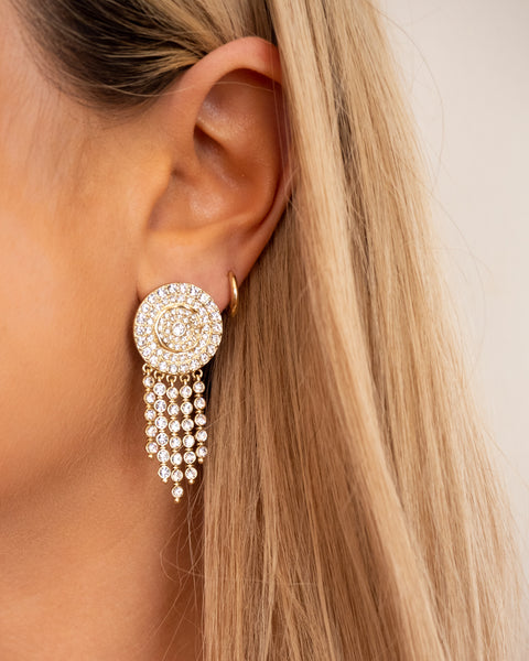 Pave Cosmic Studs- Gold