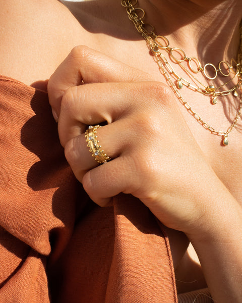 Bella Statement Ring- Gold