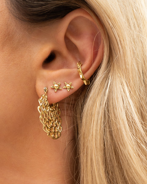 Starlight Studs + Ear Cuff Set- Silver